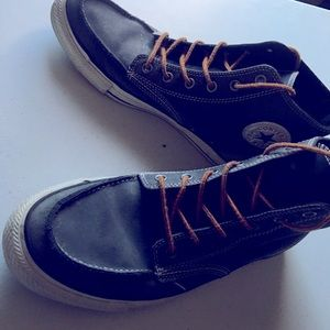Navy Blue Men Converse